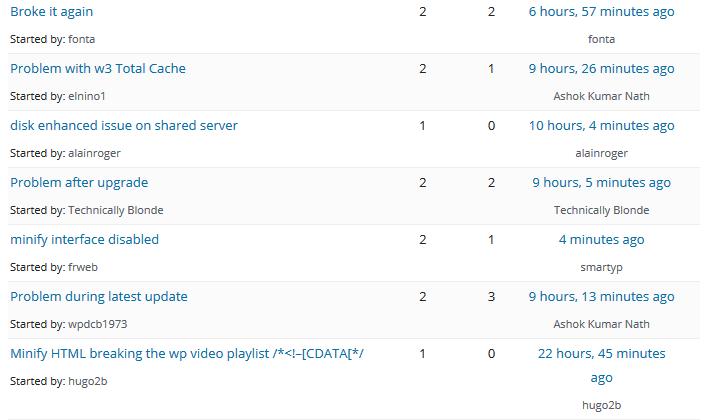 W3 cache errors